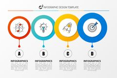 Infographic design template. Business concept with 4 steps. Can be used for workflow layout, diagram, banner, webdesign. Vector illustration vector illustration