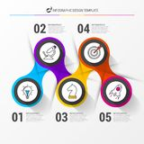 Infographic design template. Business concept with 5 steps. Can be used for workflow layout, diagram, banner, webdesign. Vector illustration stock illustration