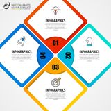 Infographic design template. Business concept with 4 steps. Can be used for workflow layout, diagram, banner, webdesign. Vector illustration Royalty Free Stock Photography