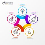 Infographic design template. Business concept with 5 steps. Can be used for workflow layout, diagram, banner, webdesign. Vector illustration Royalty Free Stock Image