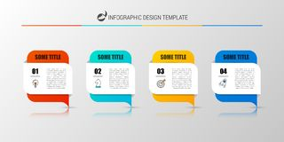 Infographic design template. Business concept with 4 steps. Can be used for workflow layout, diagram, banner, webdesign. Vector illustration Stock Photography