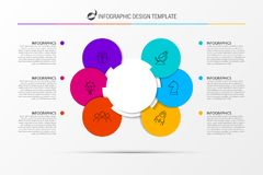 Infographic design template. Business concept with 6 steps. Can be used for workflow layout, diagram, banner, webdesign. Vector illustration vector illustration