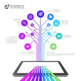 Infographic design template. Business network concept. Vector Stock Photography