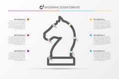 Infographic design template. Business strategy concept. Vector. Illustration Stock Photography