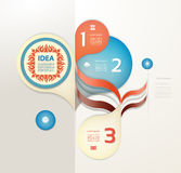 Infographic design template can be used for workflow layout Stock Photos