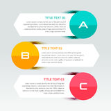 Infographic design template can be used for workflow layout, diagram, number options, web design. Infographic business concept wit Royalty Free Stock Images