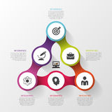 Infographic design template with circles. Business concept. Vector illustration Royalty Free Stock Photography