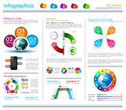 Infographic design template with cloud concept Royalty Free Stock Photography