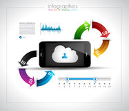 Infographic design template with cloud concept Stock Photography