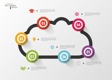 Infographic design template. Cloud. Modern business concept. Vector illustration Royalty Free Stock Images