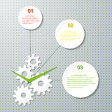 Infographic Design Template with cogwheel. Royalty Free Stock Images