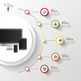 Infographic design template. Colorful circle with icons. Vector illustration Royalty Free Stock Photos