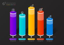 Infographic design template. Columns and percents. Vector. Illustration Royalty Free Stock Images