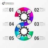 Infographic design template. Creative concept with 6 steps Royalty Free Stock Photos
