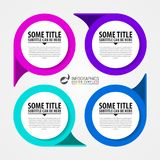 Infographic design template. Creative concept with 4 steps Royalty Free Stock Images