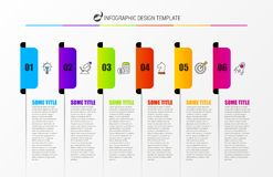 Infographic design template. Creative concept with 6 steps Royalty Free Stock Photo
