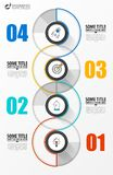 Infographic design template. Creative concept with 4 steps royalty free stock photography