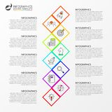 Infographic design template. Creative concept with 10 steps. Can be used for workflow layout, diagram, banner, webdesign. Vector illustration vector illustration
