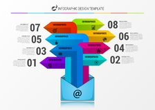 Infographic design template. Creative concept with 8 steps stock illustration
