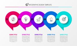 Infographic design template. Creative concept with 5 steps Royalty Free Stock Image