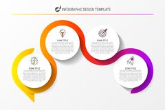 Infographic design template. Creative concept with 4 steps. Can be used for workflow layout, diagram, banner, webdesign. Vector illustration stock illustration