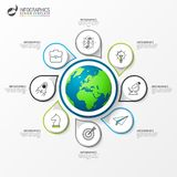 Infographic design template. Creative concept with 8 steps stock images