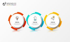Infographic design template. Creative concept with 3 steps royalty free stock image
