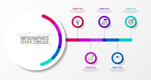 Free Infographic Design Template. Creative Concept With 5 Steps Stock Image - 122225151
