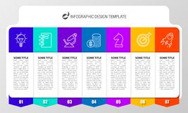 Free Infographic Design Template. Creative Concept With 7 Steps Royalty Free Stock Photography - 122532037