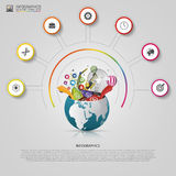 Infographic design template. Creative world. Royalty Free Stock Images