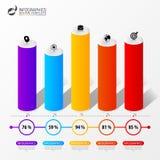 Infographic design template. 3D Column graph presentation. Vector illustration Royalty Free Stock Photo