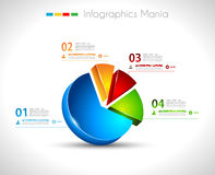 Infographic design template 3D pie. Infographic design template with3D pie. Ideal to display information, ranking and statistics with orginal and modern style Royalty Free Stock Images