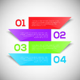 Infographic design template. 3D Infographic design template. Vector illustration for your design Royalty Free Stock Photography