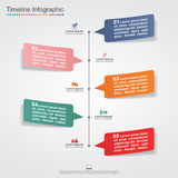 Infographic design template with elements and Stock Photo