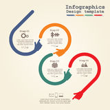 Infographic design template with elements and Royalty Free Stock Photography