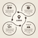 Infographic design template with elements and Stock Images