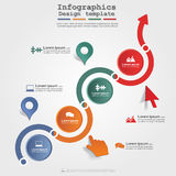Infographic design template with elements and Royalty Free Stock Images