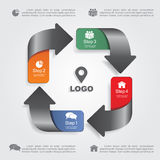 Infographic design template with elements and Stock Photos
