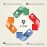 Infographic design template with elements and Royalty Free Stock Image