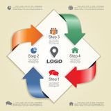 Infographic design template with elements and Royalty Free Stock Photos