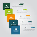 Infographic design template with elements and icons. Vector Royalty Free Stock Photo