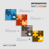Infographic design template with elements and icons. Vector Stock Photo