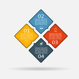 Infographic design template with elements and icons. Vector. Stock Photography
