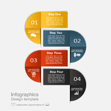 Infographic design template with elements and icons. Vector. Stock Photos