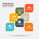 Infographic design template with elements. Vector illustration. Royalty Free Stock Photo
