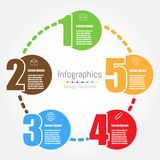 Infographic design template with five options Stock Photo