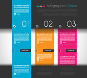 Infographic design template with flat design panels Stock Photo