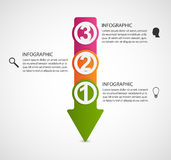 Infographic design template in the form of arrows. Stock Photos