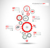 Infographic design template with gear chain. Stock Photography