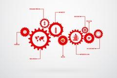 Infographic Design Template Gear Vector Stock Photos
